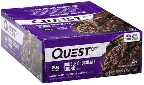 Quest Double Chocolate Chunk Flavor Protein Bar - 12 ea