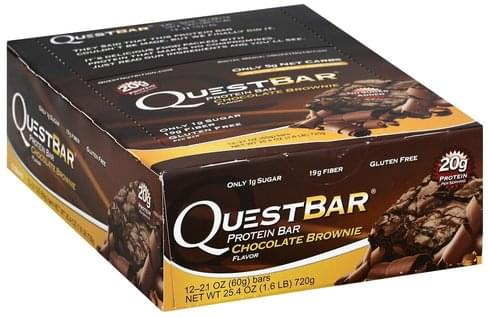 Quest Bar Chocolate Brownie Flavor Protein Bar - 12 ea