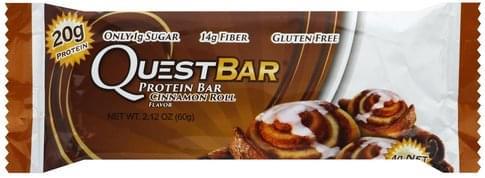 Quest Bar Cinnamon Roll Flavor Protein Bar - 2.12 oz