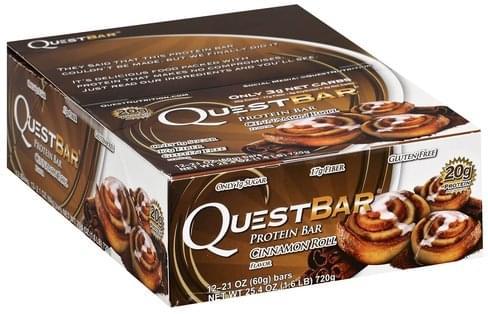 Quest Bar Cinnamon Roll Flavor Protein Bar - 12 ea