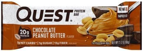 Quest Chocolate Peanut Butter Flavor Protein Bar - 2.12 oz