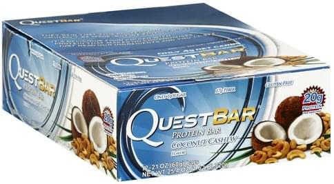 Quest Bar Coconut Cashew Flavor Protein Bar - 12 ea
