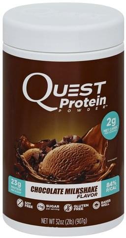 Quest Chocolate Milkshake Flavor Protein Powder - 32 oz