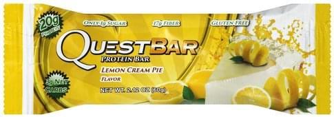 Quest Bar Lemon Cream Pie Flavor Protein Bar - 2.12 oz