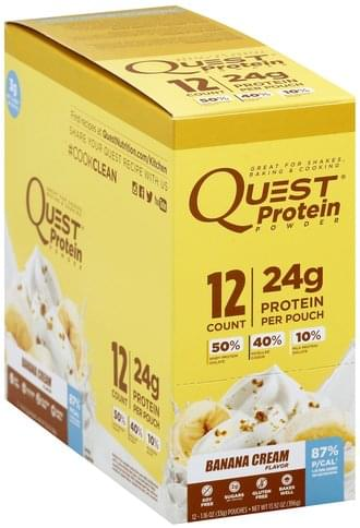 Quest Banana Cream Flavor Protein Powder - 12 ea