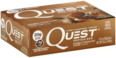 Quest Double Chocolate Chunk Flavor Protein Bar - 4 ea