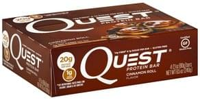 Quest Protein Bar Cinnamon Roll Flavor
