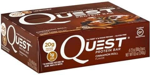 Quest Cinnamon Roll Flavor Protein Bar - 4 ea