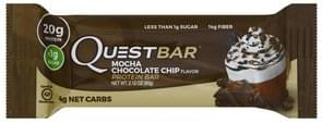 Quest Bar Protein Bar Mocha Chocolate Chip Flavor