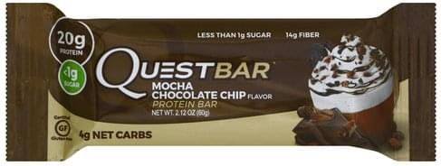 Quest Bar Mocha Chocolate Chip Flavor Protein Bar - 2.12 oz