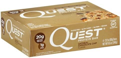 Quest Oatmeal Chocolate Chip Flavor Protein Bar - 4 ea