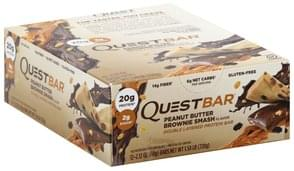 Quest Bar Protein Bar Double Layered, Peanut Butter Brownie Smash Flavor