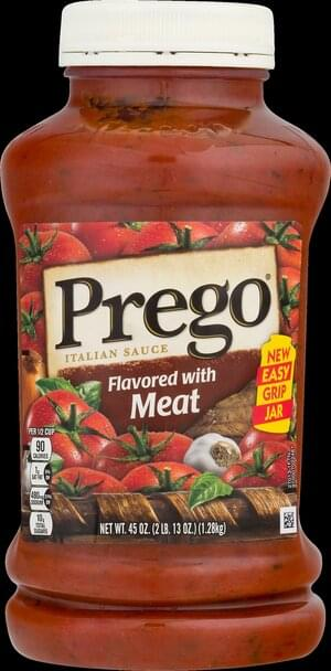 Prego Flavored with Meat Italian Sauce - 45 oz
