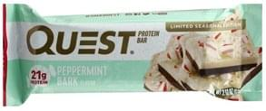 Quest Protein Bar Peppermint Bark Flavor