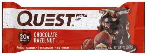 Quest Bar Chocolate Hazelnut Flavor Protein Bar - 2.12 oz