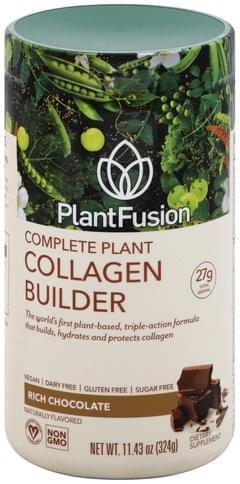 PlantFusion Complete Plant, Rich Chocolate Collagen Builder - 11.43 oz
