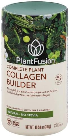 PlantFusion Complete Plant, Natural, No Stevia Collagen Builder - 10.58 oz