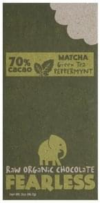 Fearless Raw Organic Chocolate Matcha Green Tea Peppermynt