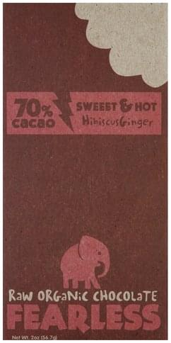 Fearless Raw Organic, Hibiscus Ginger Chocolate - 2 oz