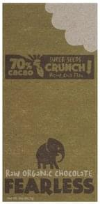 Fearless Raw Organic Chocolate Super Seeds Crunch, Hemp Chia Flax
