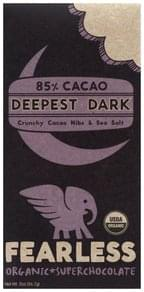 Fearless Super Chocolate Organic, Deepest Dark, 85% Cacao
