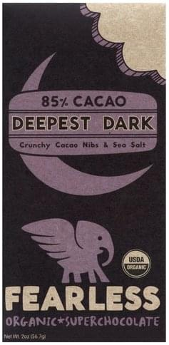 Fearless Organic, Deepest Dark, 85% Cacao Super Chocolate - 2 oz