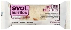 Evol Burrito Burrito Pinto Bean Rice & Cheese
