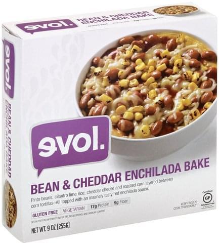 Evol Bean & Cheddar Enchilada Bake - 9 oz