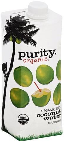 Purity Organic 100% Coconut Water - 17 oz