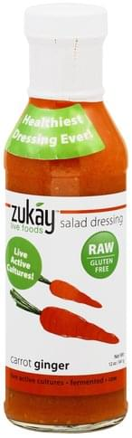 Zukay Carrot Ginger Salad Dressing - 12 oz