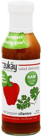 Zukay Red Pepper Cilantro Salad Dressing - 12 oz