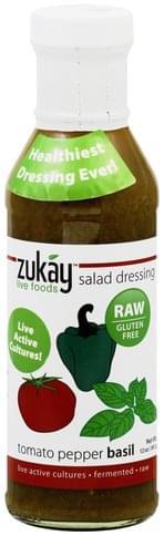 Zukay Tomato Pepper Basil Salad Dressing - 12 oz