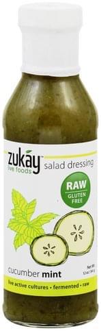 Zukay Cucumber Mint Salad Dressing - 12 oz