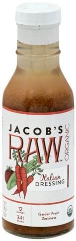 Jacobs Raw Organic, Italian Dressing - 12 oz