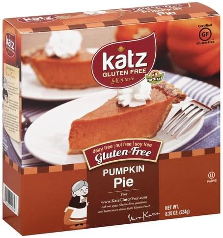 Katz Gluten-Free, Pumpkin Pie - 8.25 oz