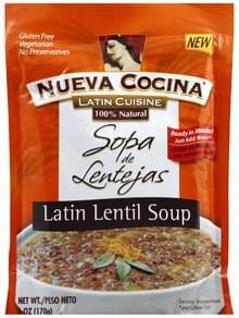 Nueva Cocina Soup Latin Lentil