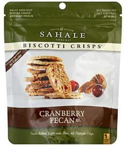 Sahale Snacks Biscotti Crisps Cranberry Pecan