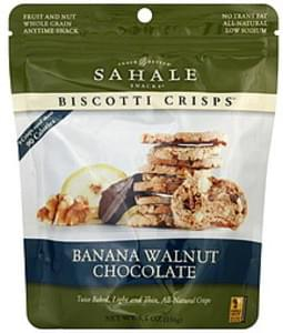 Sahale Snacks Biscotti Crisps Banana Walnut Chocolate