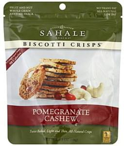 Sahale Snacks Biscotti Crisps Pomegranate Cashew