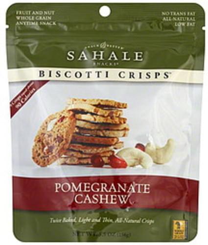 Sahale Snacks Pomegranate Cashew Biscotti Crisps - 5.5 oz