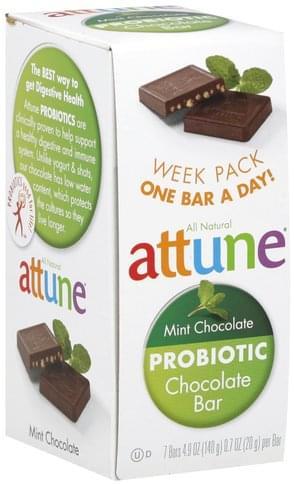 Attune Mint Chocolate Probiotic Chocolate Bars - 7 ea