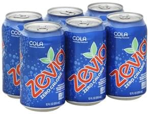 Zevia Soda Zero Calorie, Cola