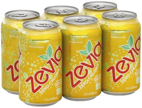 Zevia Zero Calorie, Lemon Lime Twist Soda - 6 ea