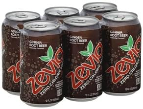Zevia Soda Zero Calorie, Ginger Root Beer
