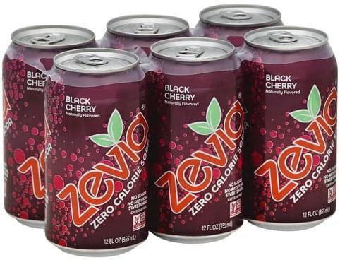 Zevia Zero Calorie, Black Cherry Soda - 6 ea