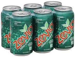 Zevia Soda Zero Calorie, Ginger Ale