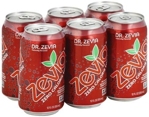 Zevia Zero Calorie, Dr. Zevia Soda - 6 ea