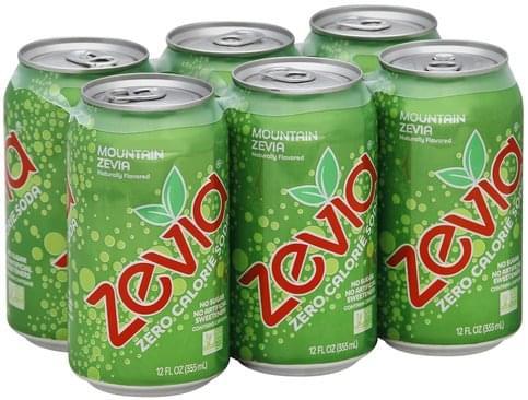Zevia Zero Calorie, Mountain Zevia Soda - 6 ea