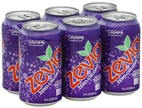 Zevia Soda Zero Calorie, Grape, Caffeine Free