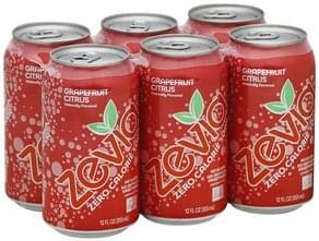 Zevia Soda Zero Calorie, Grapefruit Citrus, Caffeine Free